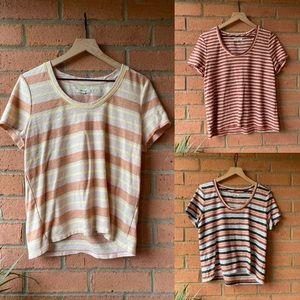 MADEWELL Alto Scoop Stripe T-Shirt 3 Piece Bundle